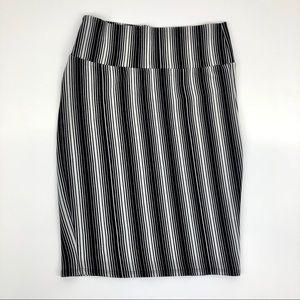 Lularoe Cassie pencil skirt black & white - small